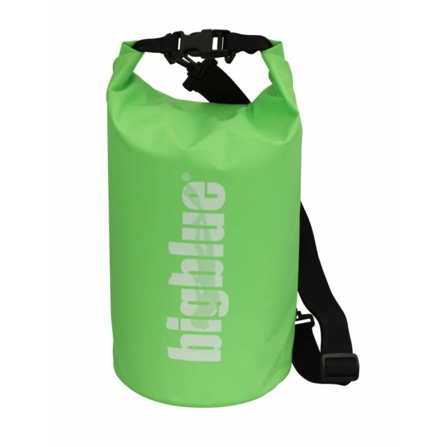 7L outdoor dry bag in green color