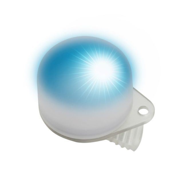 Easy Clip Light with Flash Blue