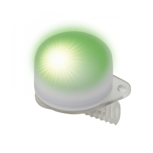 Easy Clip Light with Flash Green