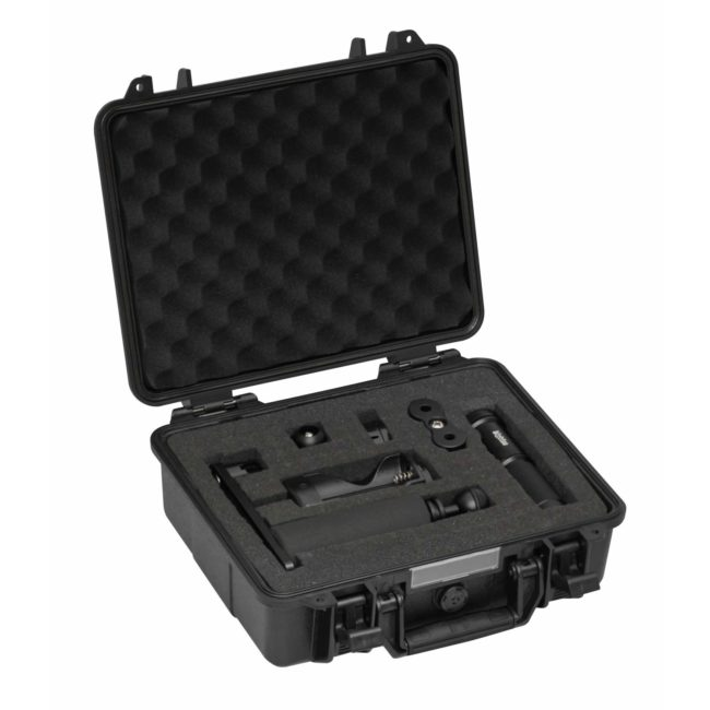 "Black Molly V: Black with Case and Single-Arm Camera Tray<span class=""screen-reader-text"">SKU: PC-AL2600XWP-II-SA-BK</span> 1"