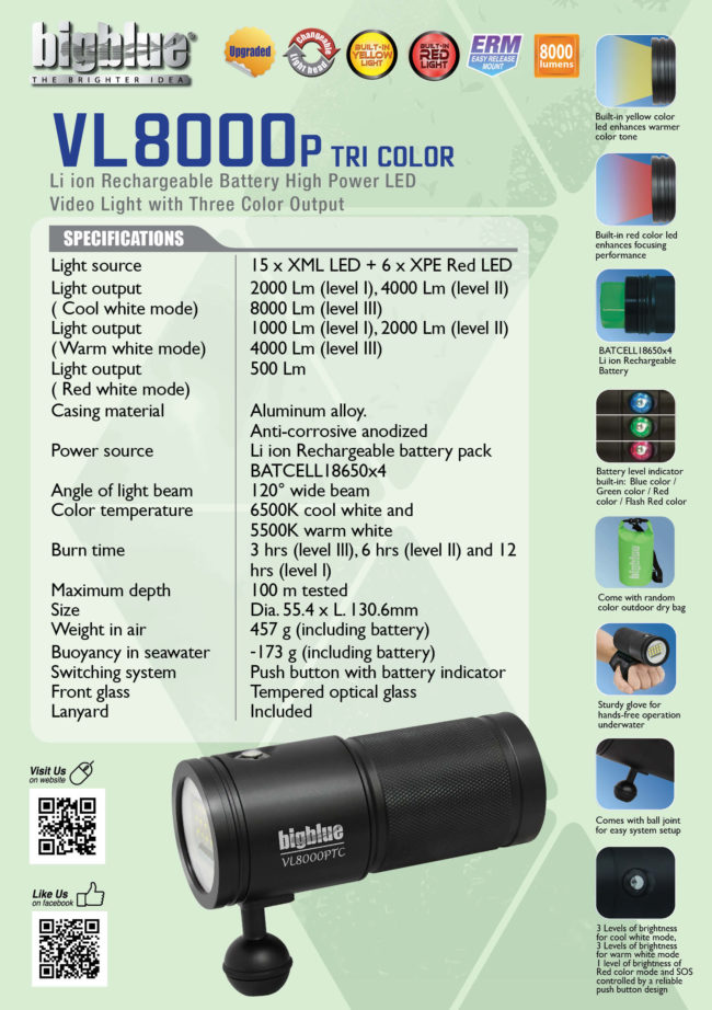 Tent Card VL8000P Tri Color