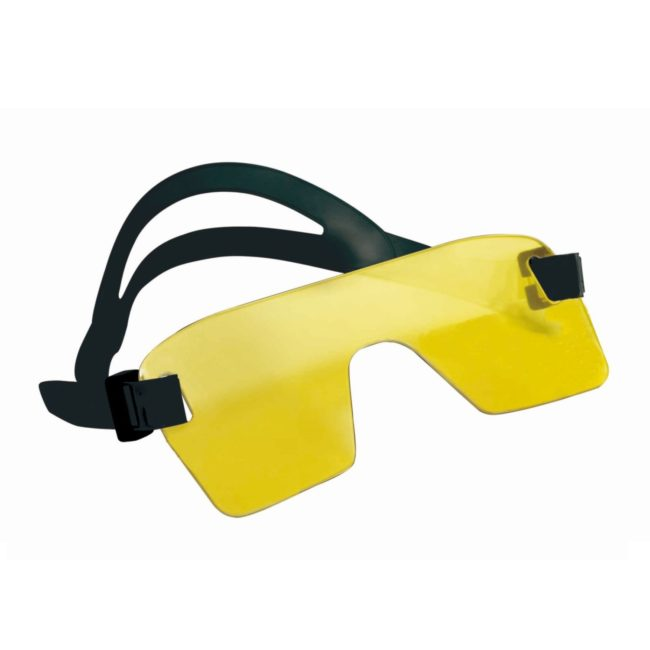 Yellow Mask with black strap