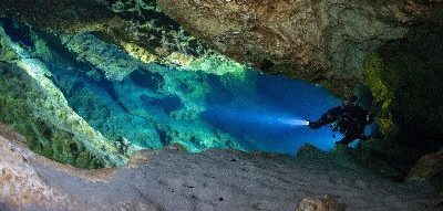 underwater cave photography