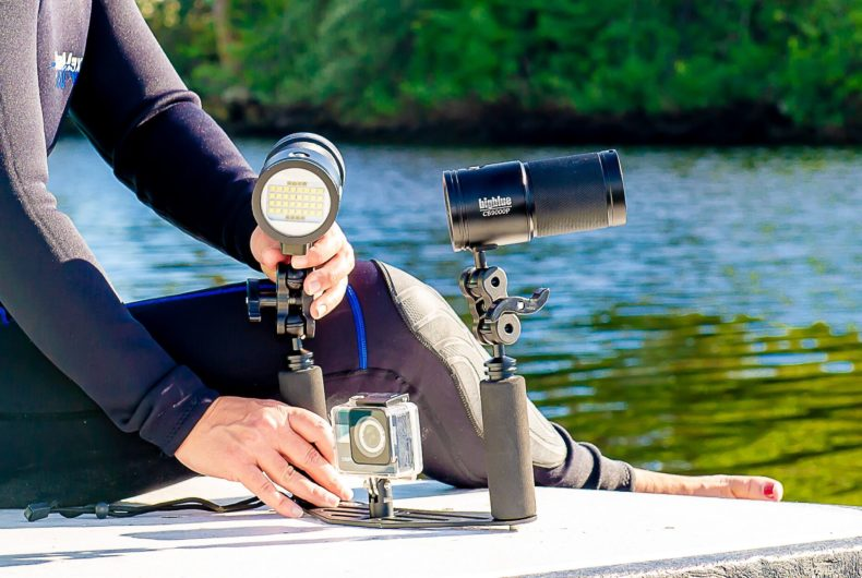 Video and Photo Lights have Adaptable Camera Attachments from Bigblue Dive Lights